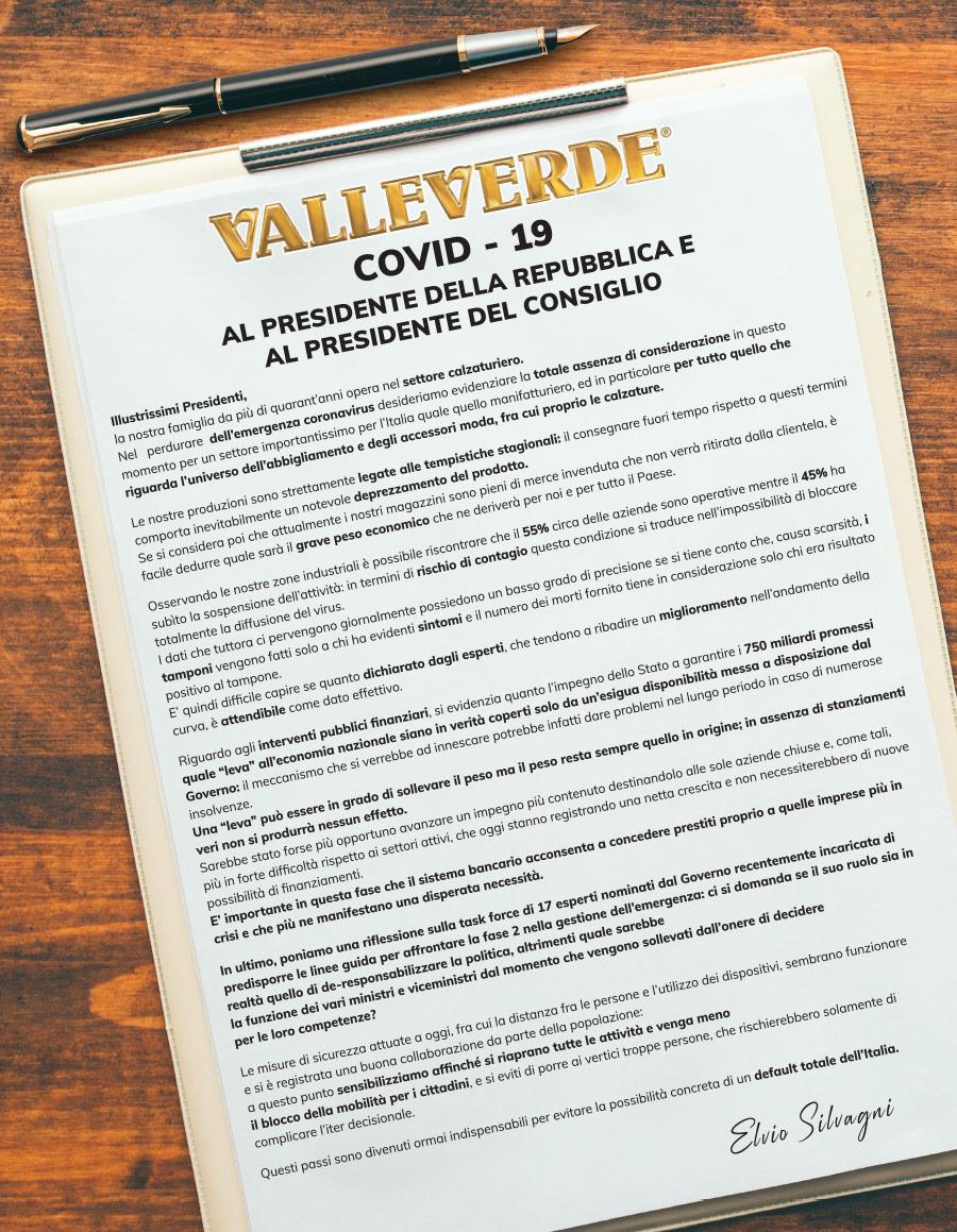 lettera valleverde al presendente della repubblica e al presidente del consiglio - sveglia italia